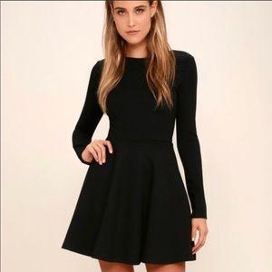 Lulu's Ponte Skater Dress. Sz. S